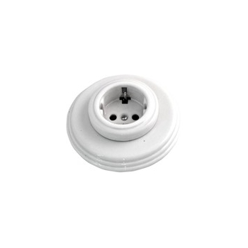 Outlet porcelain white