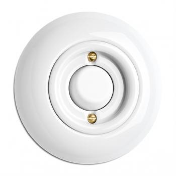 Rocker button without symbol porcelain