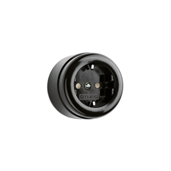 Surface mounted outlet, bakelite