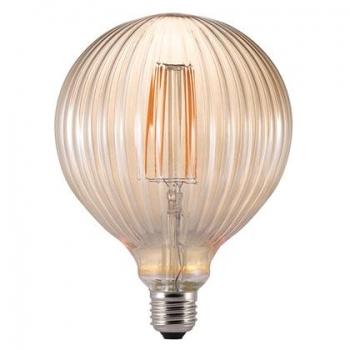 Pirn, relj triibuline kera, pruun klaas. LED 2W 150lm