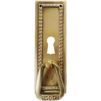 Pärjamotiiviga lukuauguga uksekäepide kapile, 95x35 mm, tk