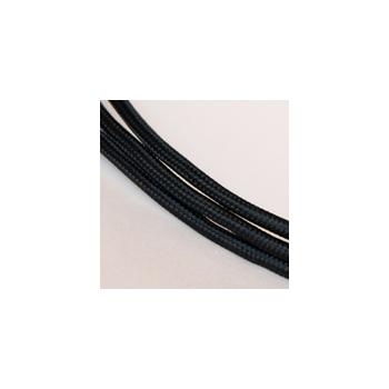 Tekstiiljuhe nr. 90, must, 1m
