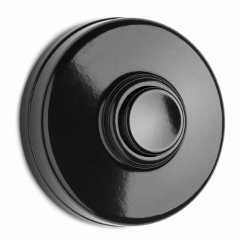 Bakelite doorbell, black Bakelite doorbell, black
