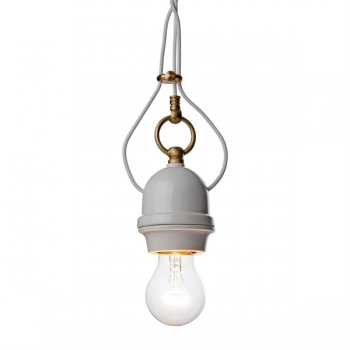 Porcelain hanging lamp