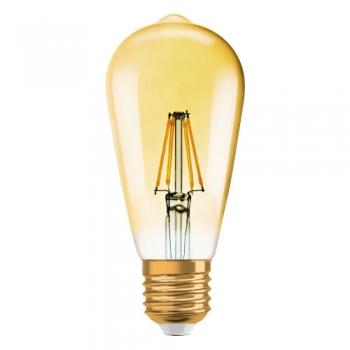 Pirn, piklik pirn, kuldne Vintage retro. LED 4W 400lm