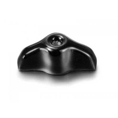 Porcelain retro knob, black, Fontini