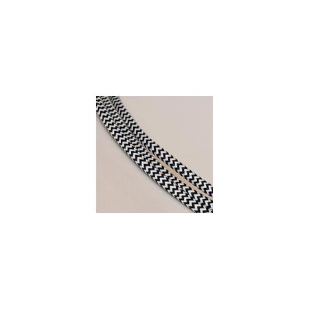 Tekstiiljuhe nr. 120, must-valge siksak, 1m