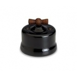 Switch, wooden switch, black,  Fontini